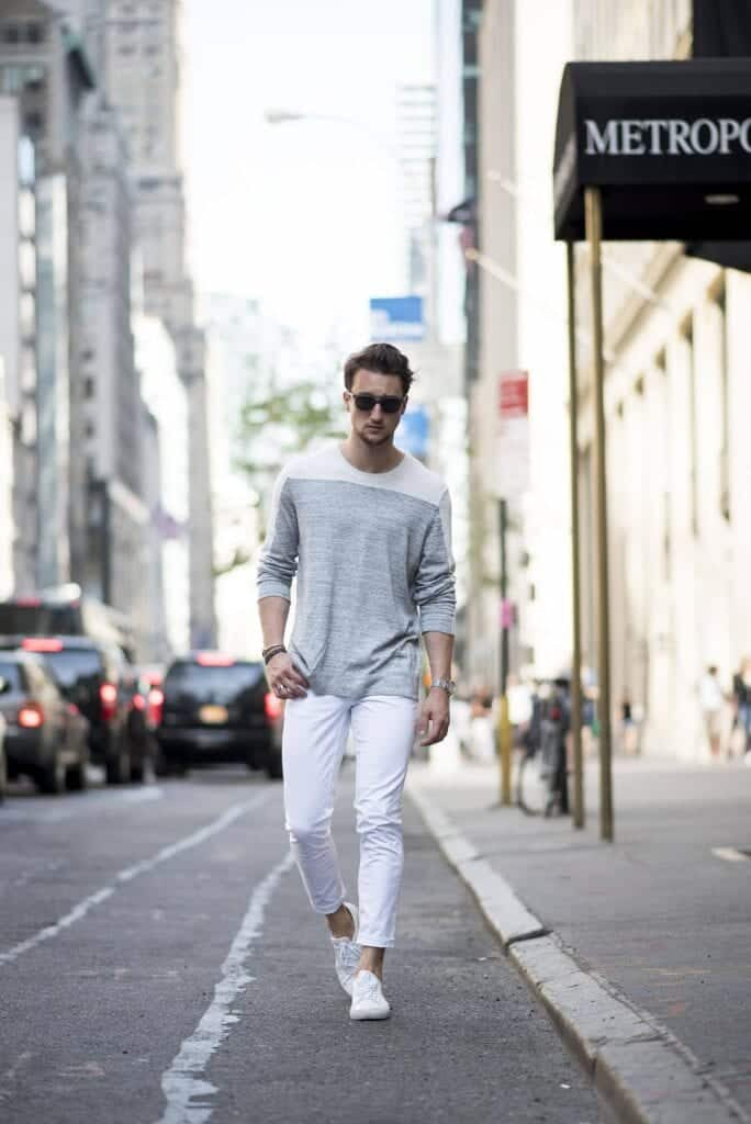 white jean outfits for mentop 25 ideas for white jeans guys