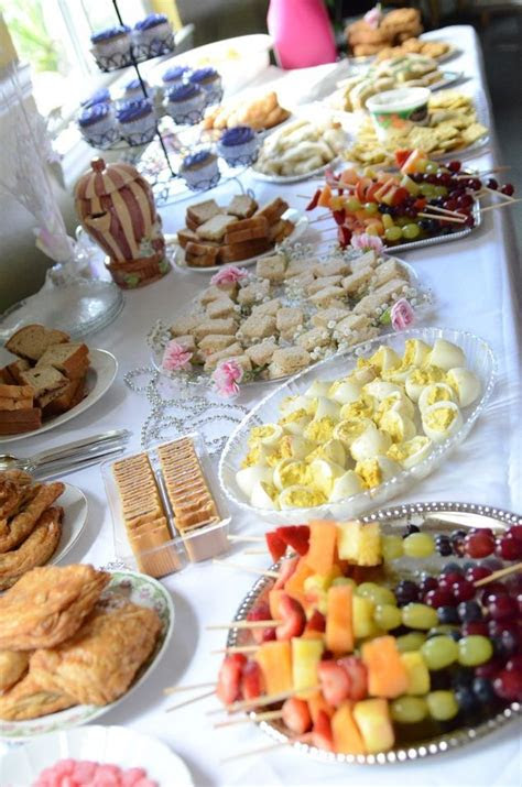 tea party birthday finger food jessica workman
