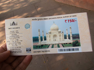 Taj Mahal Ticket
