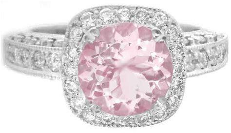 2.90 ctw Light Pink Round Sapphire and Diamond Halo