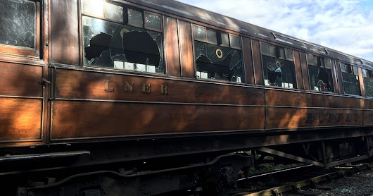 Heartbreak after vandals attack heritage railway carriages