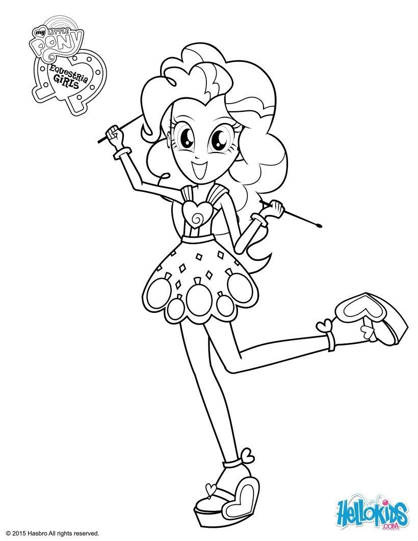 Coloriage My Little Pony Pinkie Pie à Colorier Dessin Imprimer