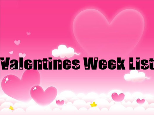 Valentine Week List 2017 All 7 Days Names and Information
