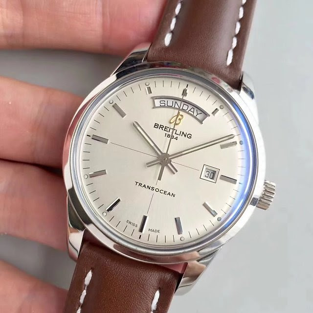 V7 Replica Breitling Transocean Stainless Steel Watch