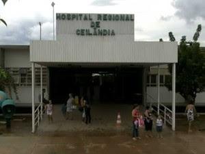 Fachada do Hospital Regional de Ceilândia (Foto: TV Globo/Reprodução)