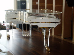 transparent piano