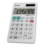 Sharp EL-377WB Large Pocket Calculator, 10-Digit LCD (SHREL377WB)
