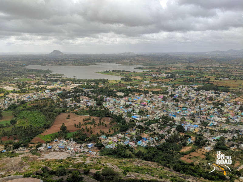 A Stunning aerial view from the top of Gudibande Fort
