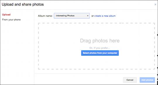 picasa google photos upload embed 2