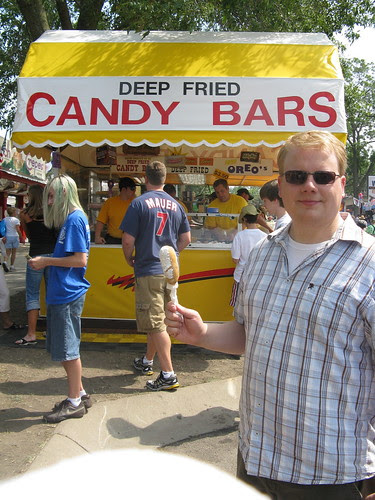 Deep Fried Snickers on a Stick