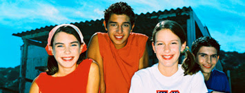 Photo: Group of four young teenagers