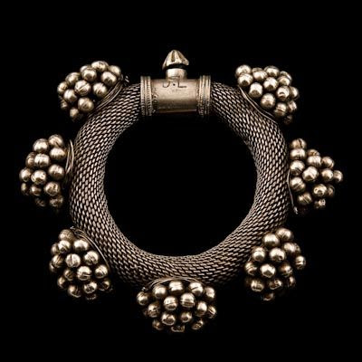 Silver Bracelet ~ Rajasthan, India ~ Circa early 20th Century