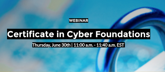 Webinar on UMBC's new, live online cybersecurity training, 11am 6/30