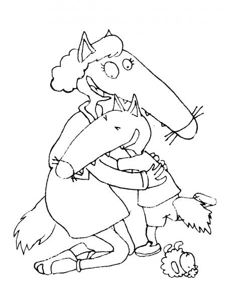 Coloriage Cont Loup Et P Tit Loup