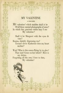 vintage poem, free poetry, harrison fisher, vintage valentine, antique valentine graphic