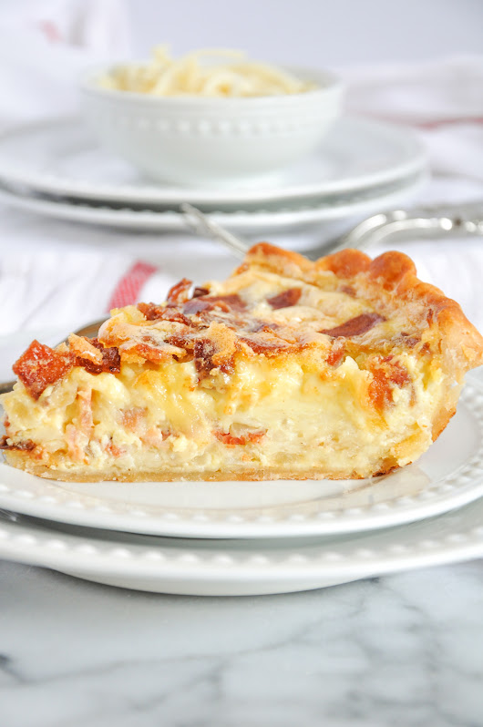 Quiche Lorraine With Bacon, Swiss & Gruyère | Stasia Wimmer