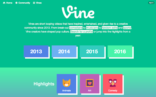 Vine website relaunches as 'Vine Archive,' mobile apps as 'Vine Camera' | MobileSyrup