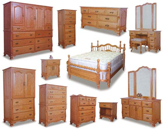 Wraparound Amish Bedroom Furniture Collection | Amish Bedroom ...