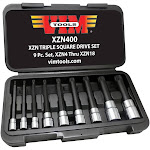 Vim Tools VMXZN400 9 Piece Long Triple Square 12 Point Bit Set