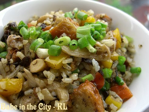 Vegetarian Olive Leaves Fried Rice