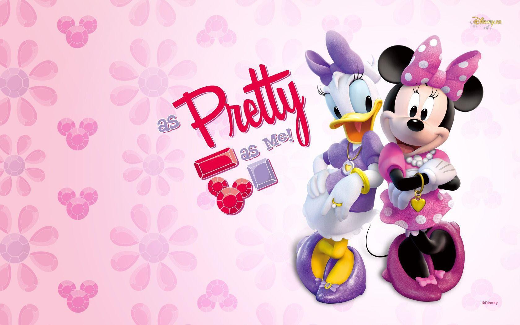 デイジーとミニーちゃん ディズニー ミニーマウスpcデスクトップ