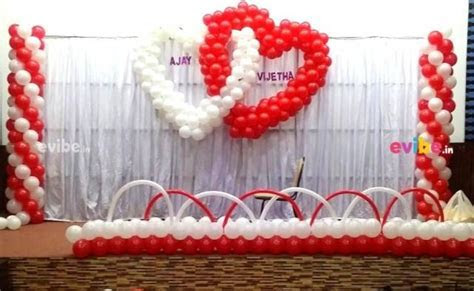 Heart theme balloons decoration for engagement for wedding