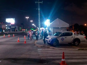 Avenida Roberto Freire foi a que mais teve operações e motoristas autuados em Natal (Foto: Divulgação/PM)