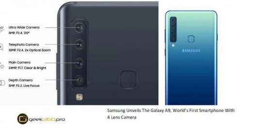 Samsung Galaxy A9, World's First Smartphone With 4 Lens Camera