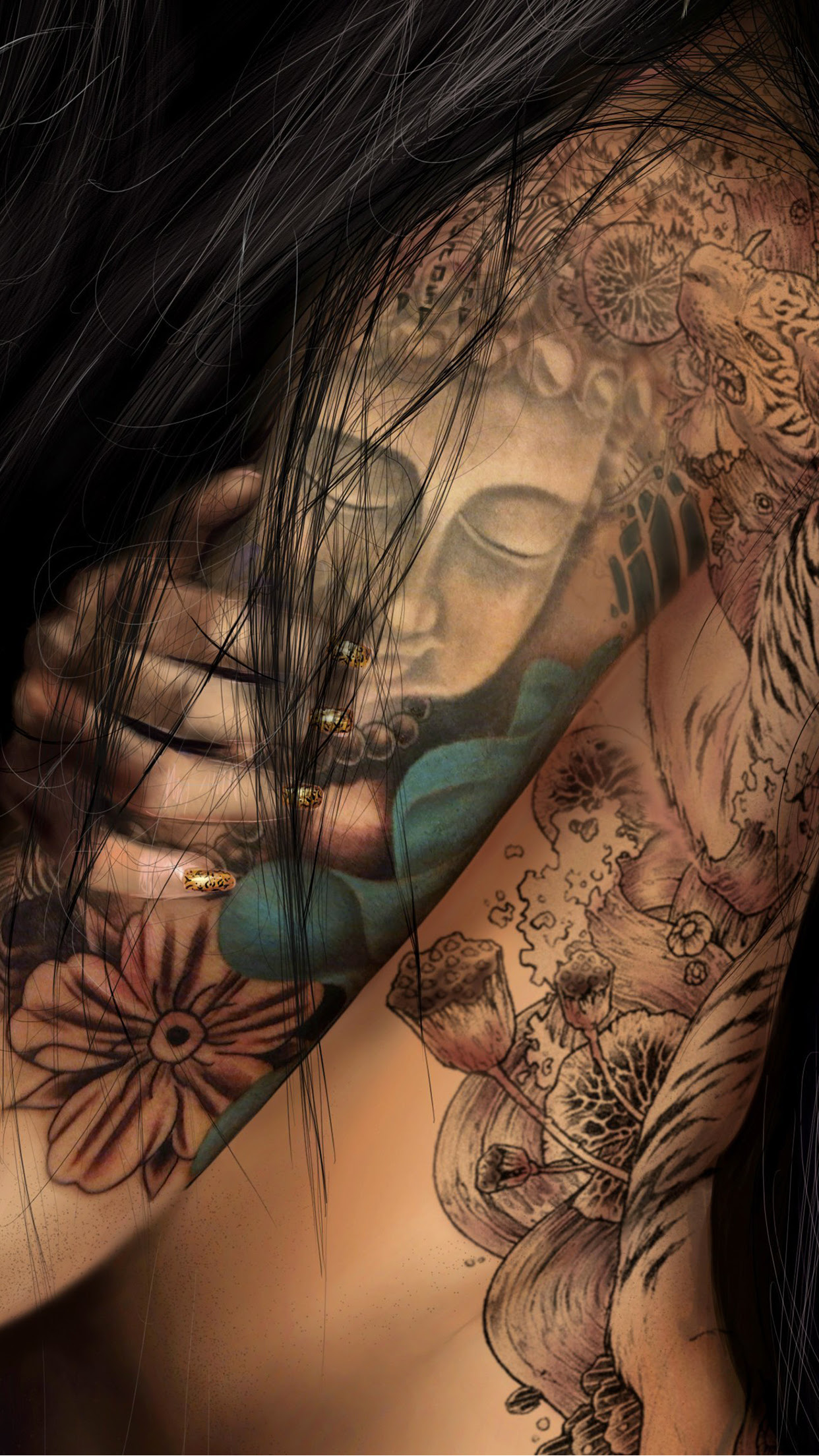 Girl Tattoo Wallpaper For Iphone 11 Pro Max X 8 7 6 Free