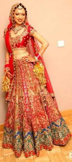 trendy dulhan dresses red 2016 2017   Styles 7