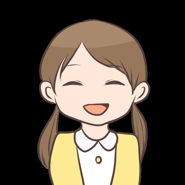 笑顔の女の子のイラスト かわいいフリー素材が無料のイラストレイン