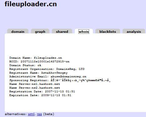 fileuploader.cn whois data