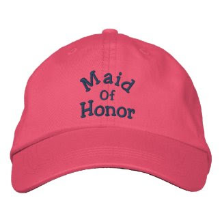 Maid Of Honor Embroidered Wedding Hat embroideredhat