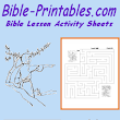 Sunday School and Bible lesson Activity Sheets | Bible-Printables