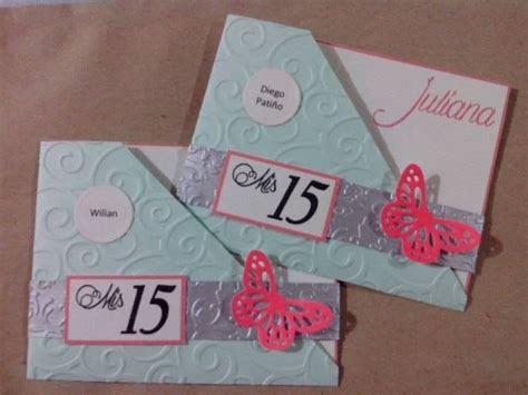 tarjetas de quince anosmodelo butterfly invitaciones