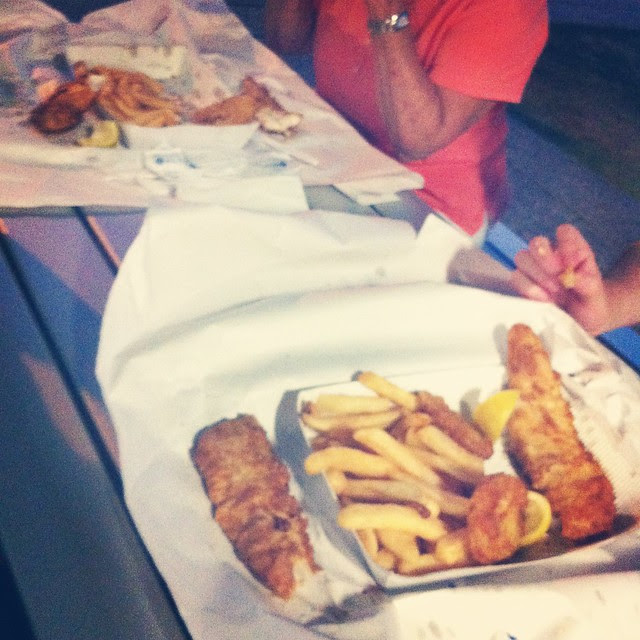 Fish and Chips on the Spit