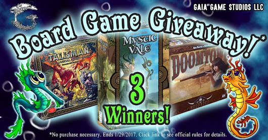 Board Game Giveaway!! ~ Gaia Game Studios