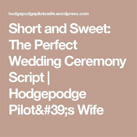1000  ideas about Wedding Ceremony Script on Pinterest