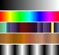 Alcuni esempi di gradienti di GIMP.