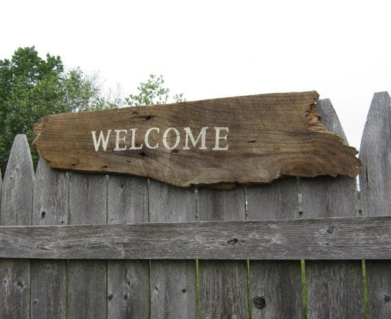 Home   sign home Reclaimed  Wood Welcome board rustic   Sign Signs Rustic Barn Decor
