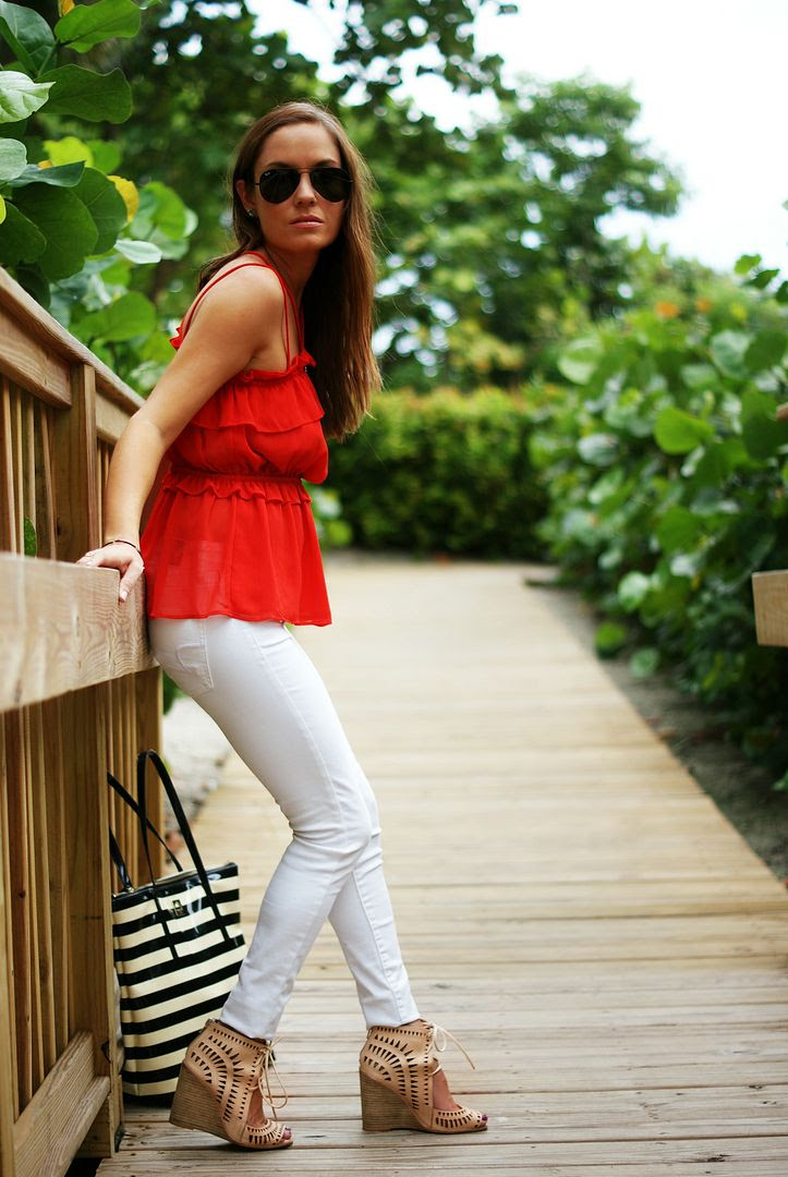 Peplum Top + Jeffrey Campbell Wedges