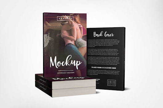 Stacked 6 x 9 Book Mockup with Back Cover - Covervault