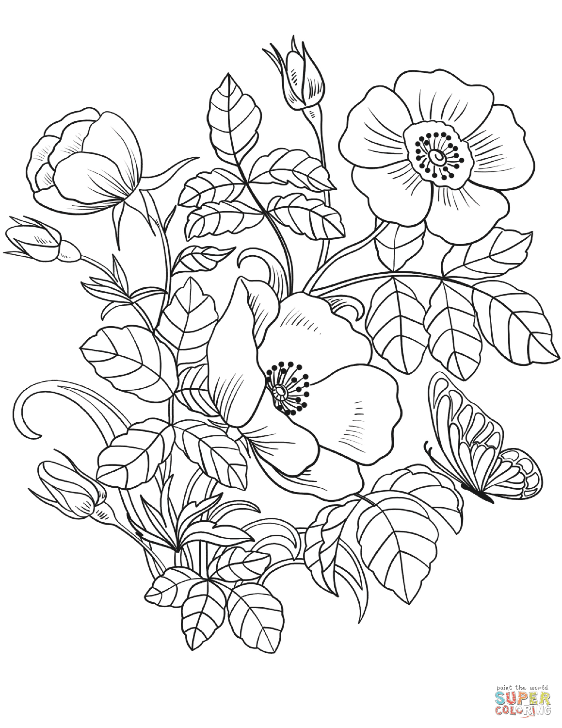 88 Coloring Book Of Flowers Online Picture HD