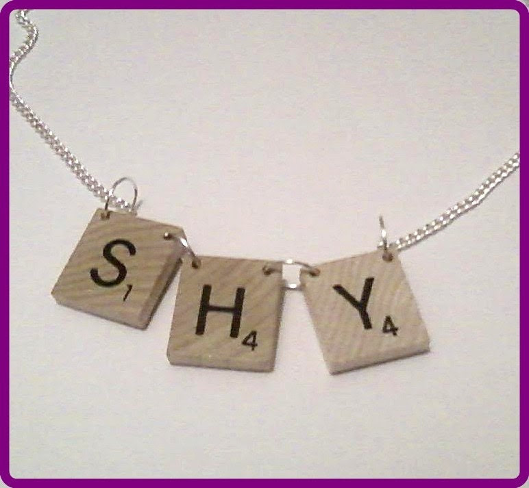 I'm A Shy Girl Scrabble Tile Necklace