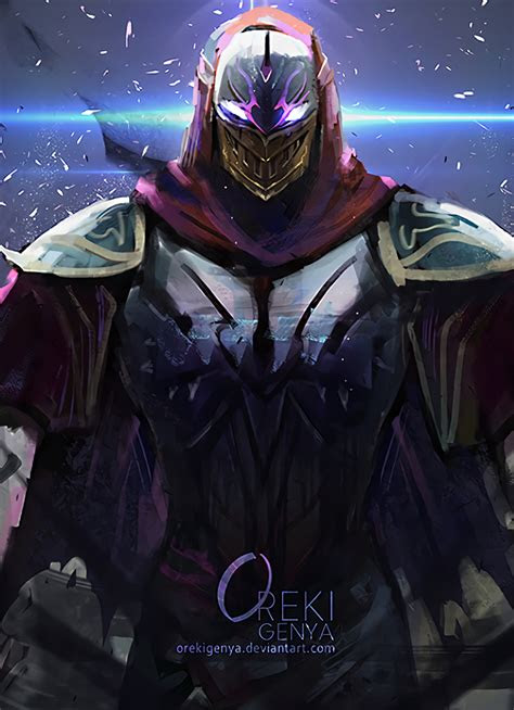 zed league  legends art full hd wallpaper