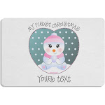 Personalized My First Christmas Snowbaby Girl Placemat Set of 4 Placemats