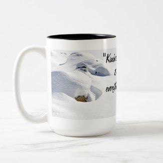 Snow Drifts Over Rocks mug