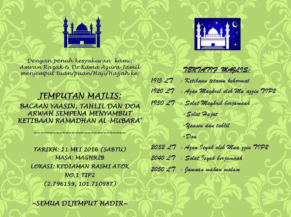 Informasi Doa Terlengkap Majlis Tahlil Dan Doa Arwah