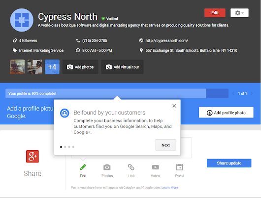 How to Connect Your Google+ Business Page to Your Local Places Listing - Cypress North