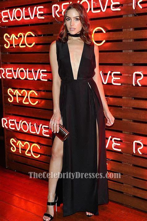 Olivia Culpo Sexy Plunge Evening Dress Cancer Benefit